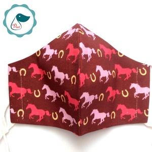 Egyedi lovas maszk - prémium  kiskamasz arcmaszk - textil szájmaszk - egészségügyi szájmaszk - mosható szájmaszk - Meska.hu