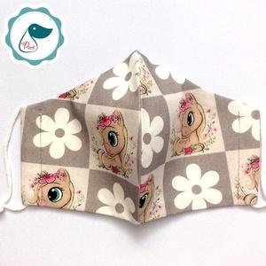 Egyedi pónilovacskás maszk - kiskamasz arcmaszk - textil szájmaszk - egészségügyi szájmaszk - mosható szájmaszk (Pindiart) - Meska.hu