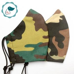 2 db terep mintás maszk - felnőtt női és teenager szájmaszk - textil szájmaszk - egészségügyi szájmaszk (Pindiart) - Meska.hu