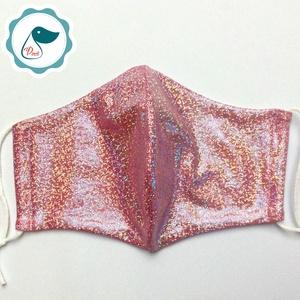 Egyedi csillogó,szinjátszó. maszk  - felnőtt női és teenager arcmaszk - textil szájmaszk - egészségügyi szájmaszk (Pindiart) - Meska.hu