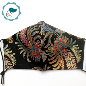 Egyedi exluziv arany,mintás textil - felnőtt női és teenager arcmaszk - keleti motívumok - egészségügyi szájmaszk (Pindiart) - Meska.hu