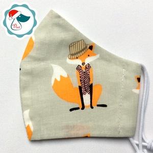 Egyedi rókás maszk - gyerek textil arcmaszk - egészségügyi szájmaszk - mosható szájmaszk (Pindiart) - Meska.hu