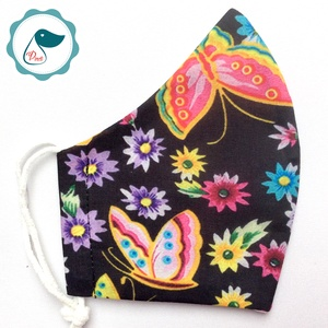 Egyedi pillangó mintás maszk  - felnőtt női és teenager arcmaszk - textil maszk - egészségügyi szájmaszk - Meska.hu
