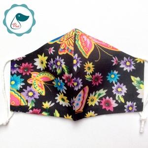 Egyedi pillangós maszk - kiskamasz arcmaszk - egészségügyi textil szájmaszk - mosható szájmaszk - Meska.hu