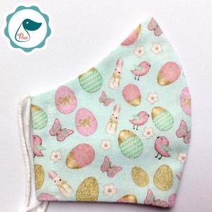 Egyedi nyuszis maszk- kiskamasz -Húsvéti arcmaszk - textil szájmaszk - egészségügyi szájmaszk - mosható szájmaszk - Meska.hu