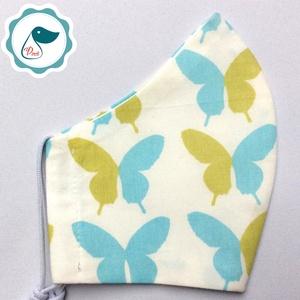 Pillangós maszk -prémium felnőtt női és teenager arcmaszk - egyedi textil szájmaszk - egészségügyi szájmaszk - Meska.hu