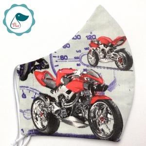 Egyedi férfi motoros maszk - textil szájmaszk - egészségügyi szájmaszk, Maszk, Arcmaszk, Férfi & Uniszex, Varrás, Meska