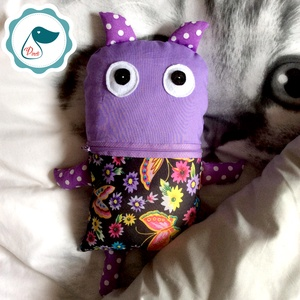 Gondevő textil játék -jó barát tektil figura - alvós játék (Pindiart) - Meska.hu