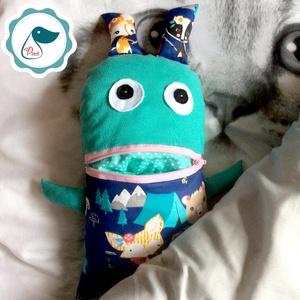 Gondotevő róka mintás textil játék - jó barát tektil figura - alvós játék - gond - Meska.hu