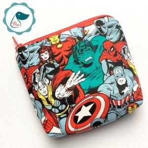Egyedi szuperhősők mintás neszesszer - pénztárca, Táska & Tok, Neszesszer, Varrás, Egyedi szuper hősök  designer pamut neszesszer.\nKlasz ajándék lehet kis kamasz diákoknak,apróságok t..., Meska