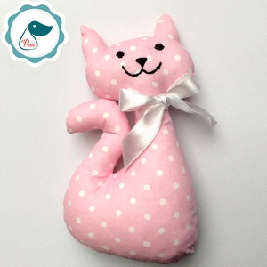 Cica - egyedi tervezésű kézműves játék - textiljáték - macska, Játék & Gyerek, Plüssállat & Játékfigura, Cica, Baba-és bábkészítés, Varrás, Meska