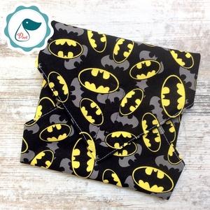 Uzsonna csomagoló - Batman logos szendvics csomagoló - újra szalvéta - No waste - élelmiszer biztos újreszalvéta - Meska.hu