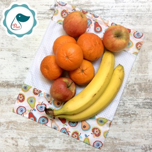 Eper mintás  gyümölcs zsák - bevásárló textil zsák  - újra hasznósítható zsák - újra zacskó - zöldség gyümölcs zsák - Meska.hu