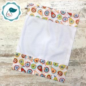 Zöldség - gyümölcs zsák - alma körte mintás bevásárló textil zsák  - újra hasznósítható zsák - újra zacskó, Táska & Tok, Bevásárlás & Shopper táska, Kenyeres zsák, Varrás, Egyedi vidám mintákkal készült textil bevásárló zsákjaim ,helyettesítik a bevásárló nejlon zacskókat..., Meska