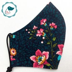 Egyedi prémium - virág mintás felnőtt női és teenager szájmaszk - textil szájmaszk - egészségügyi szájmaszk - Meska.hu