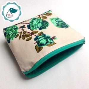 Egyedi prémium rózsa mintás nagy neszesszer - táska ki egészítő - tároló  - Meska.hu