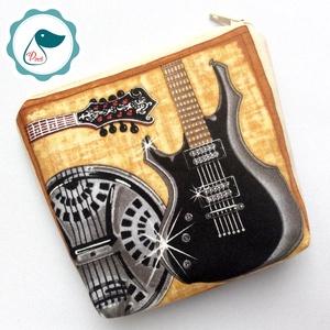 Egyedi designer gitár mintás neszesszer  - hangszeres aprópénztartó - Meska.hu