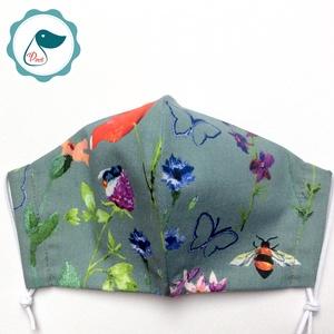 Egyedi pipacs - mező virágai mintás maszk- felnőtt női és teenager maszk - textil szájmaszk - egészségügyi szájmaszk - maszk, arcmaszk - női - Meska.hu