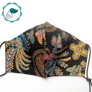 Egyedi exluziv arany,mintás textil - felnőtt női és teenager arcmaszk - keleti motívumok - egészségügyi szájmaszk - maszk, arcmaszk - női - Meska.hu