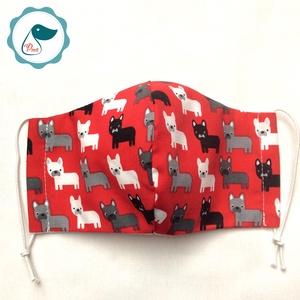 Egyedi kutya mintás - gyerek szájmaszk - textil szájmaszk - egészségügyi szájmaszk - mosható szájmaszk - Meska.hu
