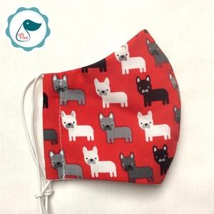 Egyedi kutya mintás - gyerek szájmaszk - textil szájmaszk - egészségügyi szájmaszk - mosható szájmaszk, Maszk, Arcmaszk, Gyerek, Baba-és bábkészítés, Varrás, Meska