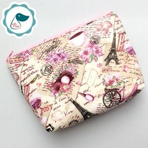 Egyedi prémium Paris mintás nagy neszesszer - táska ki egészítő - tároló  - Meska.hu