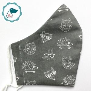 Egyedi rókás maszk - felnőtt női és teenager szájmaszk - textil szájmaszk - egészségügyi szájmaszk, Maszk, Arcmaszk, Gyerek, Varrás, Meska