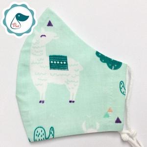 Egyedi  lámás maszk - kiskamasz arcmaszk - textil arcmaszk - egészségügyi maszk - mosható szájmaszk, Maszk, Arcmaszk, Női, Baba-és bábkészítés, Varrás, Meska