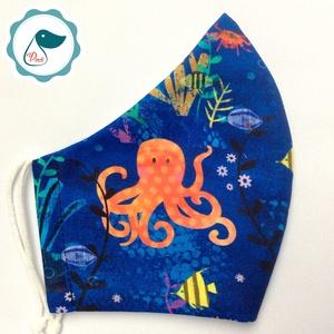 Egyedi tengeri állatok mint maszk - prémium  női és teenager szájmaszk - nyári textil szájmaszk - egészségügyi szájmaszk - Meska.hu