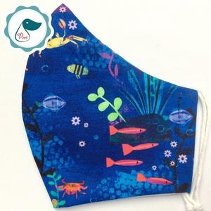 Egyedi tengeri állatok mint maszk - prémium  női és teenager szájmaszk - nyári textil szájmaszk - egészségügyi szájmaszk - maszk, arcmaszk - Meska.hu