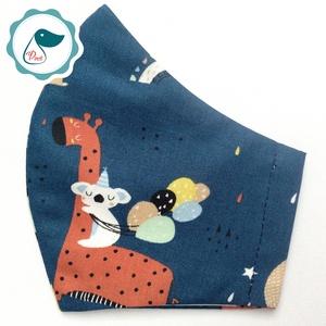 Egyedi zsiráf,koala mintás - gyerek szájmaszk - textil szájmaszk - egészségügyi szájmaszk - mosható szájmaszk, Maszk, Arcmaszk, Gyerek, Baba-és bábkészítés, Varrás, Meska