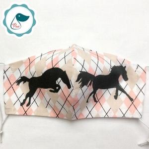 Egyedi lovas maszk - felnőtt női és teenager maszk - textil szájmaszk - egészségügyi szájmaszk - maszk, arcmaszk - női - Meska.hu