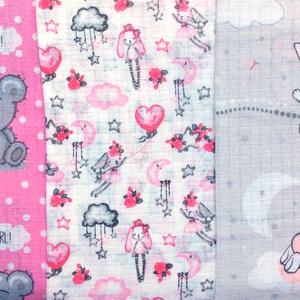 Mintás -  prémium textil pelenka - maci mintáspelenka -  nyuszi mintás pelenka  - Meska.hu