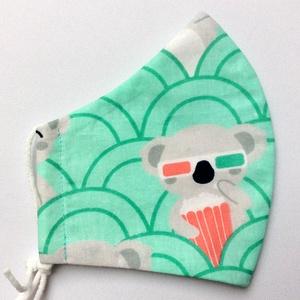 Egyedi koalás maszk - kiskamasz szájmaszk - textil szájmaszk - egészségügyi szájmaszk - mosható szájmaszk - Meska.hu