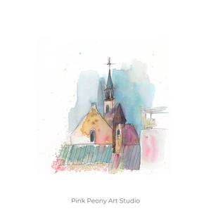 Holland háztetők - art print A5, Otthon & lakás, Képzőművészet, Illusztráció, Festészet, Fotó, grafika, rajz, illusztráció, Art print holland háztetők - A5-ös méret  (akvarell festményem alapján)\n\nAjánlom a szobád falára, mi..., Meska