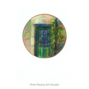 Zöld ajtó - art pritn A5, Otthon & lakás, Képzőművészet, Illusztráció, Festészet, Fotó, grafika, rajz, illusztráció, Art print zöld ajtó - A5-ös méret (akvarell festményem alapján)\n\nAjánlom a szobád falára, mindig egy..., Meska