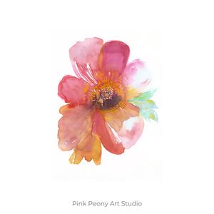 Pink peony akvarell - A5 art print, Képzőművészet, Otthon & lakás, Illusztráció, Festmény, Akvarell, Festészet, Fotó, grafika, rajz, illusztráció, Pink peony akvarell - A5 art print (akvarell festményem alapján)\n\nMéret: 14,8 x21 cm (A5)\n\nSzépséges..., Meska