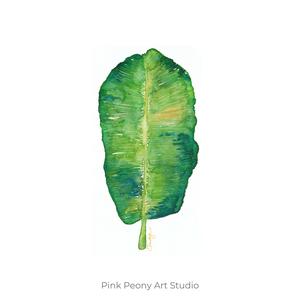 Zöld pálmalevél akvarell - A5 art print, Képzőművészet, Otthon & lakás, Illusztráció, Festmény, Akvarell, Festészet, Fotó, grafika, rajz, illusztráció, Zöld pálmalevél akvarell - A5 art print (akvarell festményem alapján)\n\nMéret: 14,8 x21 cm (A5)\n\nSzép..., Meska