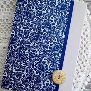 Kékfestő mintás napló, Jegyzetfüzet & Napló, Papír írószer, Otthon & Lakás, Decoupage, transzfer és szalvétatechnika, Könyvkötés, Dekupázs technikával készült notesz, emlékkönyv, vagy napló.\nMérete: 20.5 x 14,6 (A5)\nA kemény fedel..., Meska