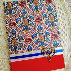 Marokkói mintás napló, Jegyzetfüzet & Napló, Papír írószer, Otthon & Lakás, Decoupage, transzfer és szalvétatechnika, Könyvkötés, Dekupázs technikával készült notesz, emlékkönyv, vagy napló.\nMérete: 20.5 x 14,6 (A5)\nA kemény fedel..., Meska