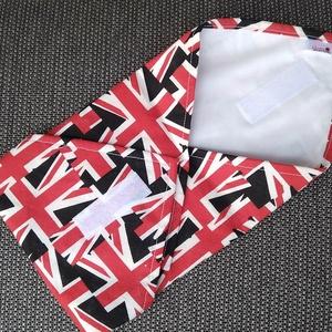 Brit zászlós textil szalvéta, élelmiszerbiztos PUL anyaggal, NoWaste, Textilek, Textil tároló, Varrás, Mosható, újrahasználható textil szalvéta, tépőzárral kényelmesen állítható a szendvics méretéhez. A ..., Meska