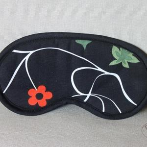 Szempihentető maszk, alvómaszk, virágos, NoWaste, Otthon & lakás, Táska, Divat & Szépség, Textilek, Textil szempihentető maszk, alvómaszk, virágos mintával. Az alvómaszk 2 rétegű, a külső oldala erős ..., Meska