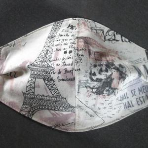 Párizs arcmaszk, szájmaszk, Táska, Divat & Szépség, NoWaste, Szépség(ápolás), Maszk, szájmaszk, Textilek, Egészségmegőrzés, Textil arcmaszk, 2 rétegű, mindkét réteg pamutvászon. A két oldal különböző színű/mintázatú. Úgy var..., Meska