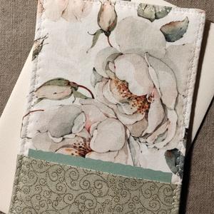 Rózsás üdvözlőlap, textilkép, pénzboríték, Otthon & Lakás, Dekoráció, Kép & Falikép, Varrás, Születésnapra, névnapra, köszönetként, vagy csak úgy!\nPrémium minőségű pamutvászonból készült textil..., Meska