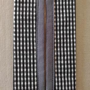 Fekete kockás papír zsebkendő tartó, Táska & Tok, Pénztárca & Más tok, Zsebkendőtartó, Varrás, Pamutvászonból készült papír zsebkendő tartó.\nKétrétegű (bélelt), a nyitott részen külön anyaggal sz..., Meska