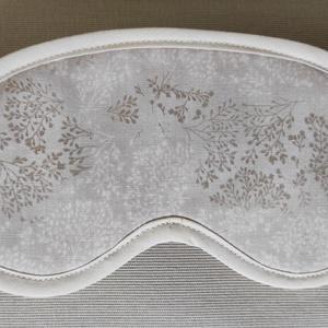 Szempihentető maszk, alvómaszk, krém növényi mintás, Szépségápolás, Arcápolás, Alvómaszk, szemmaszk, Varrás, Textil szempihentető maszk, alvómaszk, szürke, növényi mintával. Az alvómaszk 2 rétegű, a külső olda..., Meska