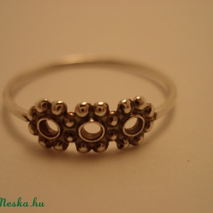 ezüst gyűrű golyós    - Meska.hu
