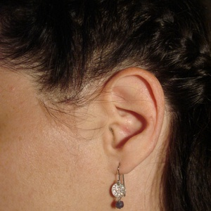 ezüst fülbevaló iolittal   - Meska.hu