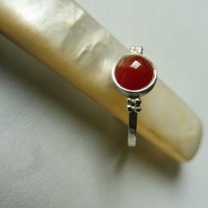 ezüst karneol gyűrű (piroekszer) - Meska.hu