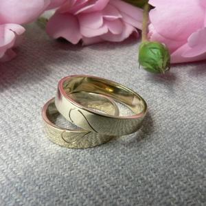 karikagyűrű szívvel, Karikagyűrű, Ékszer, Esküvő, Ékszerkészítés, Ötvös, 925-ös finomságú ezüstből készítem ezeket a gyűrűket rendelésre. A szélességük 4mm, magasságuk 1mm. ..., Meska